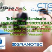 Seminario INNOVACIÓN Y SOLUCIONES/INDUSTRIA DE LÁCTEOS, BEBIDAS Y HORNEADOS